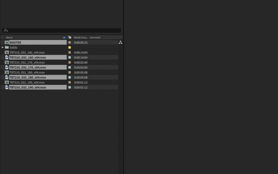 Create comps from clips with custom layers
